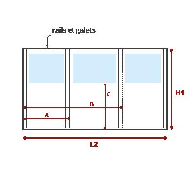 Schéma façade pergola