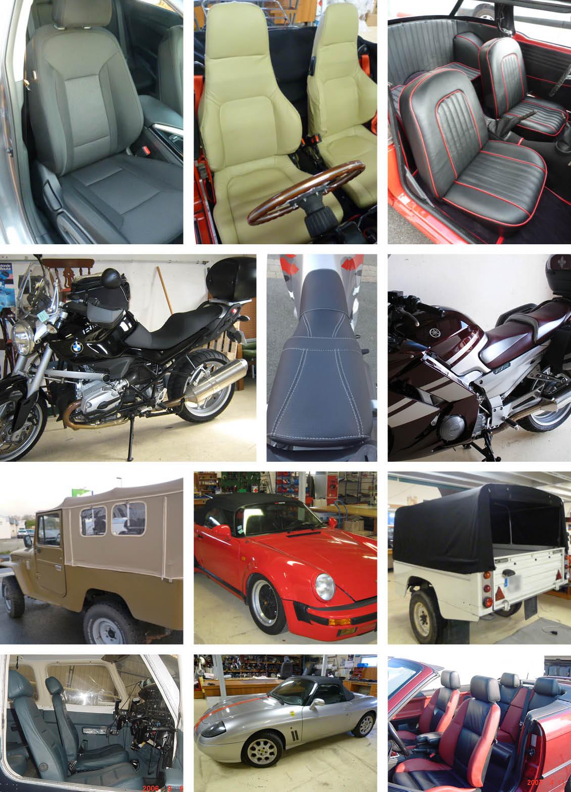 Mosaïque - Sellerie auto moto