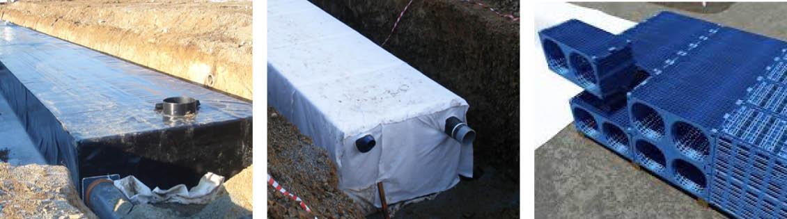 Mosaïque - Géomembrane pour bassin enterré