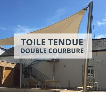 Toile tendue double courbure
